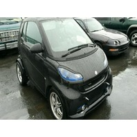 2009 Smart Fortwo Brabus black 1.0 automatic damaged rear for parts
