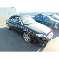 2007 Audi A4 Cabriolet 2.0t automatic black damaged left front for parts