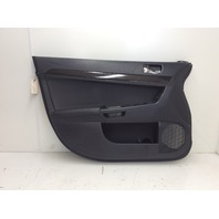 2011 Mitsubishi Lancer Evolution MR left front panel black 7221A835XA leather