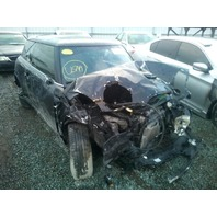 2007 Mini Cooper S black 1.6 6 speed damaged front for parts