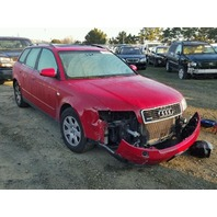 2003 Audi A4 Avant wagon 1.8t automatic red damaged front for parts