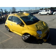 2015 Fiat 500 sport 1.4 5 speed yellow damaged all over for parts
