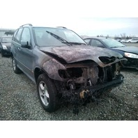 2003 Bmw X5 3.0 automatic grey engine fire damage for parts