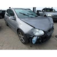 2009 Volkswagen Rabbit 2 door grey 2.5 5 speed damaged front for parts