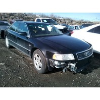 2001 Audi A8 L 4.2 automatic black damaged front for parts
