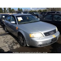 2001 Audi A6 quattro 2.7 automatic silver damaged left side for parts