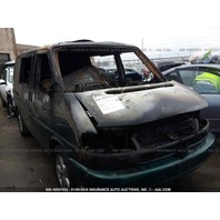 2002 Volkswagen Eurovan interior fire 2.8 automatic green for parts