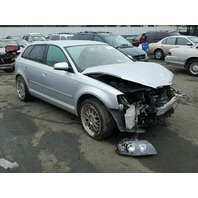 2006 Audi A3 2.0t automatic silver damaged left front for parts