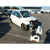 2015 Fiat 500 Abarth white 1.4 5 speed damaged front for parts