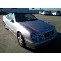 2002 Mercedes CLK320 silver V6 automatic damaged interior for parts