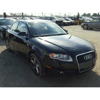 2007 Audi A4 3.2 sedan non quattro black damaged rear for parts