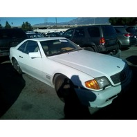 1991 Mercedes 500SL white automatic damaged front for parts