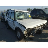 2003 Land Rover Discovery white rollover for parts
