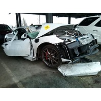 2016 Porsche Cayman GTS white 3.4 damaged left side for parts