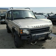 2003 Land Rover Discovery gold damaged front for parts