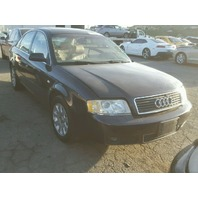 2002 Audi A6 3.0 automatic blue damaged left side for parts