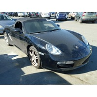 2006 Porsche Boxster 2.7 automatic black interior fire for parts