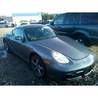 2008 Porsche Cayman grey 3.4 6 speed damaged left front for parts
