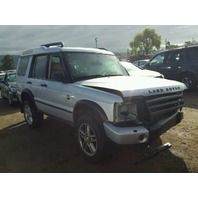 2004 Land Rover Discovery 4.6 atuomatic silver damaged left side for parts