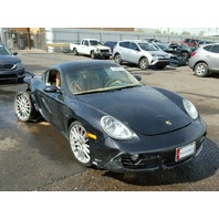 2006 Porsche Cayman S 3.4 automatic black damaged right rear for parts