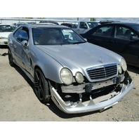 2001 Mercedes CLK430 coupe silver damaged front for parts