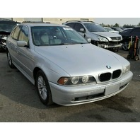 2003 Bmw 530I silver automatic damaged rear for parts