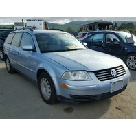 2004 Volkswagen Passat wagon blue 1.8t automatic damaged rear for parts