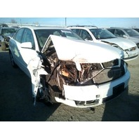 2004 Audi A4 3.0 automatic white quattro damaged front for parts