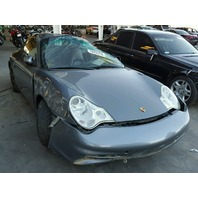 2002 Porsche 911 3.6 automatic grey coupe rollover for parts