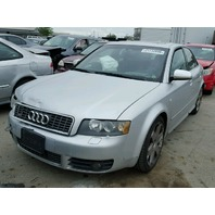 2004 Audi S4 quattro silver 4.2 damaged right front for parts