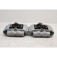 2004 2005 2006 2007 2008 Porsche Cayenne rear brake caliper pair silver brembo