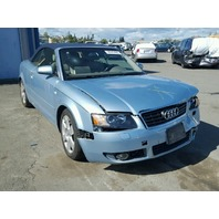 2004 Audi A4 Cabriolet 1.8t automatic blue damaged front for parts