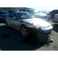2006 Porsche 911 coupe 3.6 silver black interior rollover for parts