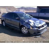 2014 Volkswagen Jetta 1.8t automatic grey roll over damage for parts