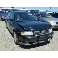 2003 Audi A4 Avant wagon black 3.0 automatic damaged front for parts