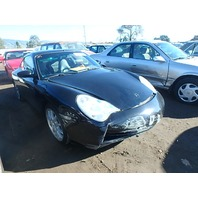 2002 Porsche 911 3.6 coupe 6 speed black damaged front for parts