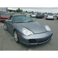 2002 Porsche 911 C4S grey 3.6 automatic damaged right rear for parts