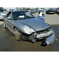 2004 Porsche 911 coupe silver 40th X51 3.6 6 speed damaged left front for parts