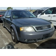 2004 Audi A6 Allroad wagon green 2.7 damaged rear end for parts