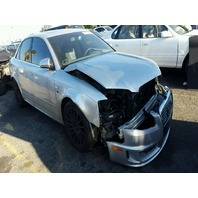 2008 Audi S4 silver 4 door damaged left front for parts