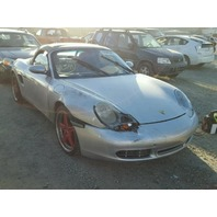 2000 Porsche Boxster S silver damaged right front for parts