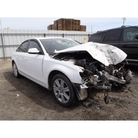 2011 Audi A4 2.0 sedan white damaged front for parts