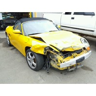 2001 Porsche Boxster 2.7 yellow damaged front for parts