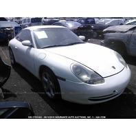 2000 Porsche 911 996 coupe 3.4 automatic white damaged rear techart for parts
