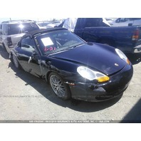 1999 Porsche 911 cabriolet black 6 speed roll over for parts