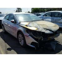 2012 Volkswagen CC silver 2.0 engine burn for parts