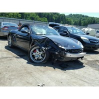 2005 Porsche Boxster S 6 speed black damaged right front for parts