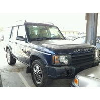 2003 Land Rover Discovery blue theft recovery for parts