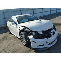 2010 Bmw M3 convertible white damaged front for parts