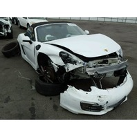 2014 Porsche Boxster S white automatic 3.4 damaged front for parts